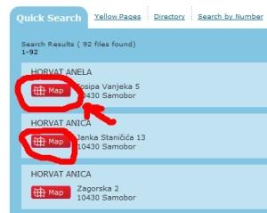 Listing Croatian Phone Directory
